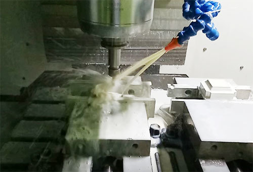 Metal CNC milling working process