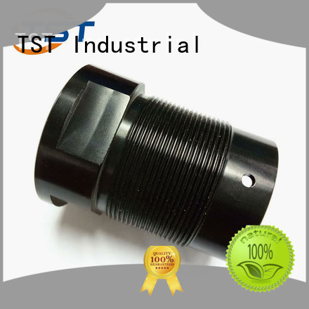 TST automatic plastic turned parts with color anodized surface manufacturer