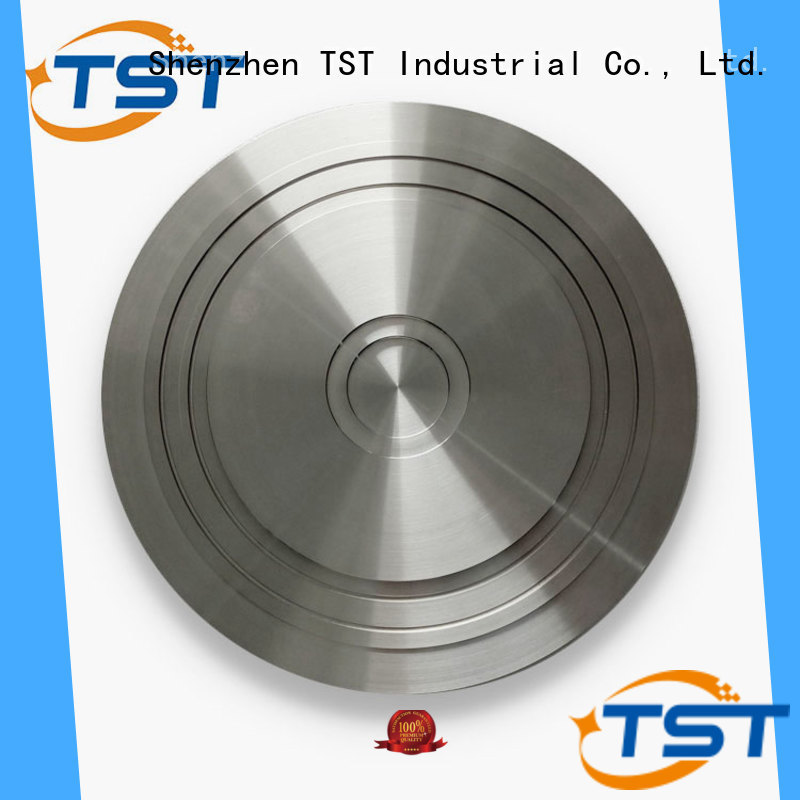 TST aluminum plastic turned parts with color anodized surface supplier